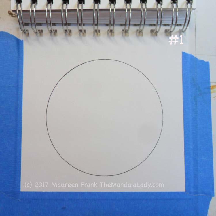 FCG: 1 - prep paper & draw circleFCG: 1 - prep paper & draw circle