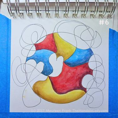 FCG: 6 - then yellow, red, blue in the remaining non-doodle sections
