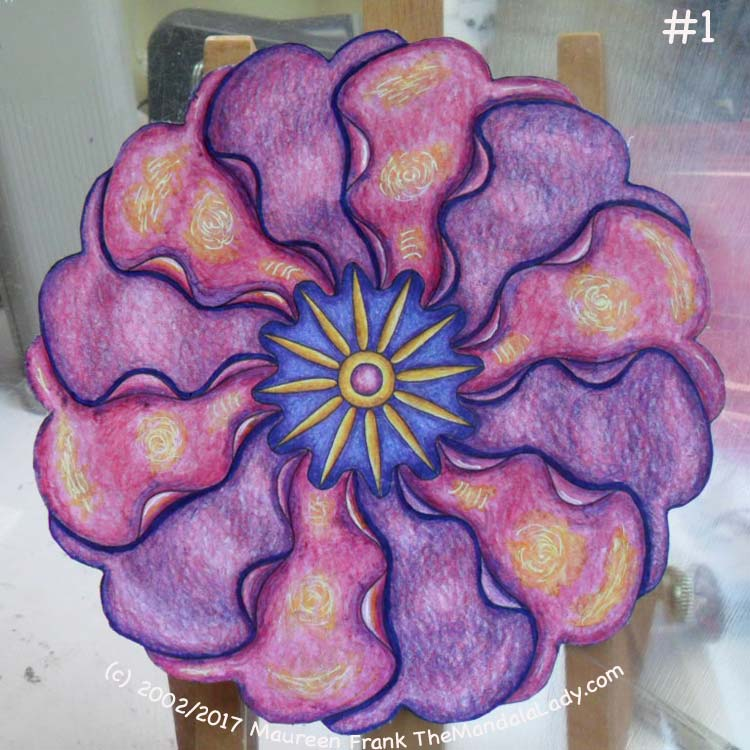 Primrose #2 Day 2: 1 - add dark blue shadow to purple petals