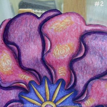 Primrose #2 Day 2: 2 - add purple to dark blue shadow to purple petals