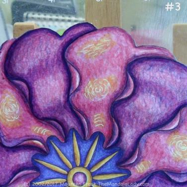 Primrose #2 Day 2: 3 - blend violet to purple & dark blue shadow on purple petals