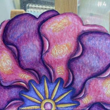 "Primrose #2 Day 2: 4 - add a blue wash over ""light"" areas on purple petals"