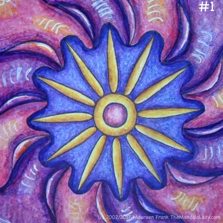 Primrose #2 Day 3: 1 - darken outer section of blue center
