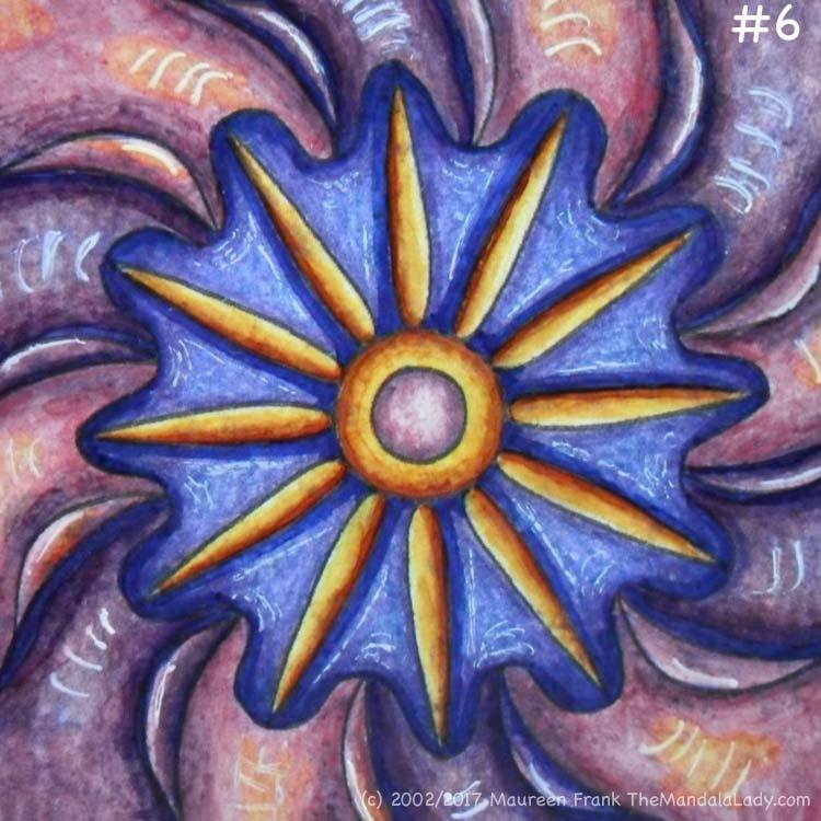 Primrose #2 Day 3: 6 - add brown/gold shading to yellow ring around center