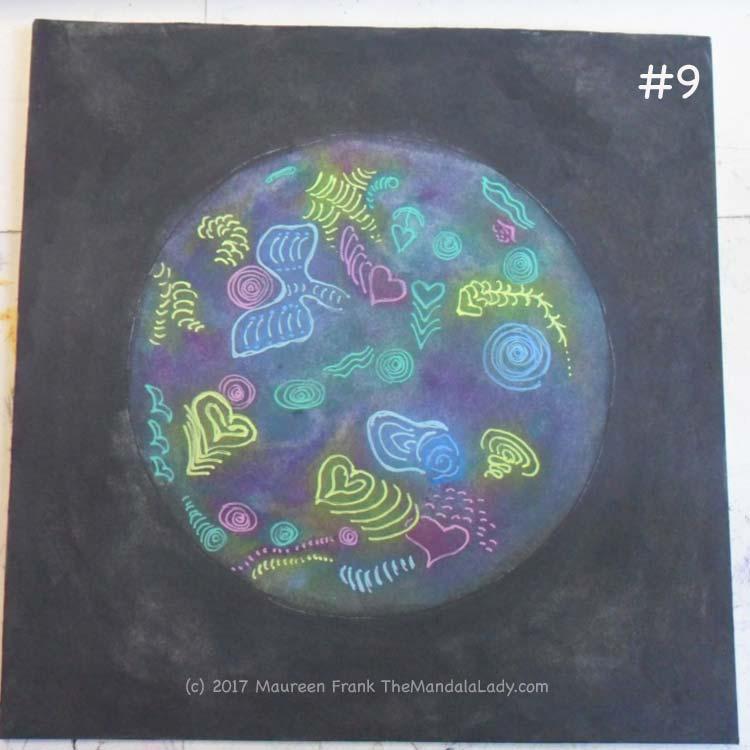 Cosmic Spirals: 9 - add pink gel pen details