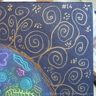 Cosmic Spirals: 14 - add gold dots to background