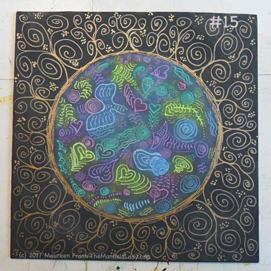 Cosmic Spirals: 15 - full view of today's progress - finished