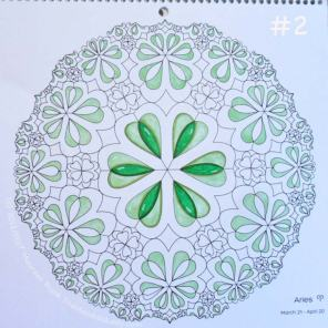 Sign of Aries - Day 1: 2 - finish the light green sections