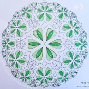 Sign of Aries - Day 1: 3 - add the emerald green sections