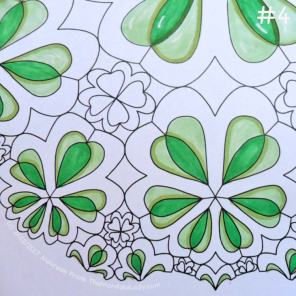 Sign of Aries - Day 1: 4 - add shadows to the light green sections