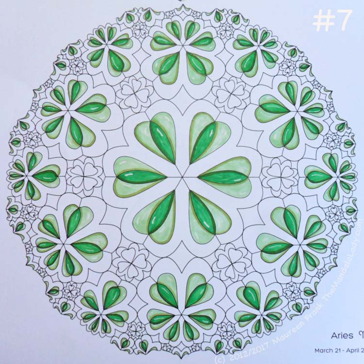 Sign of Aries - Day 1: 7 - full view of today's coloring