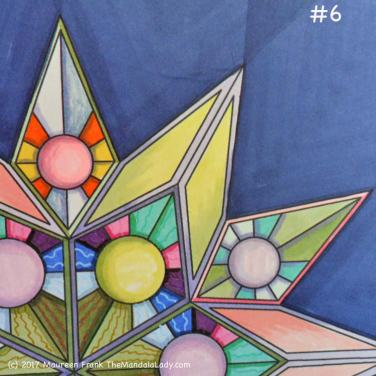 """Soulscape Day 6: 6 - add shading to sections of outer """"diamonds"""""""