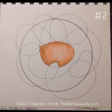 Community Mandala: 2 - start with orange