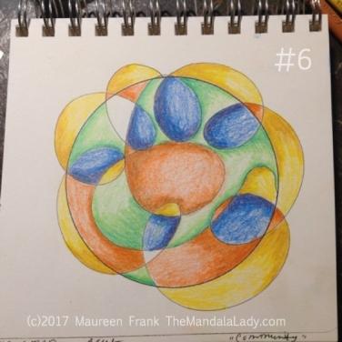 Community Mandala: 6 - add some more orange