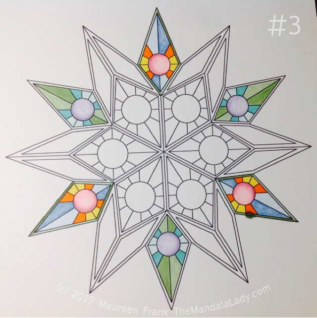 """Soulscape Day 2: 3 - add purples to circles in triangle of """"points"""""""