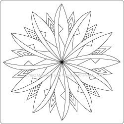 mandala to color - mandala of the month - windmill
