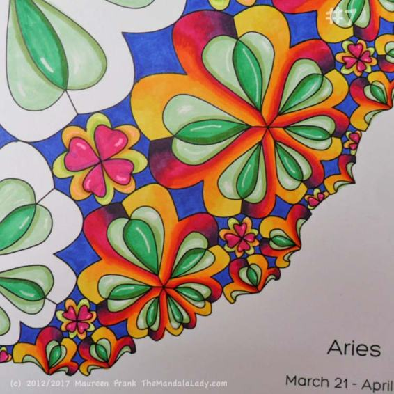 Sign of Aries - Day 5: 7 - continue coloring more Aries symbols