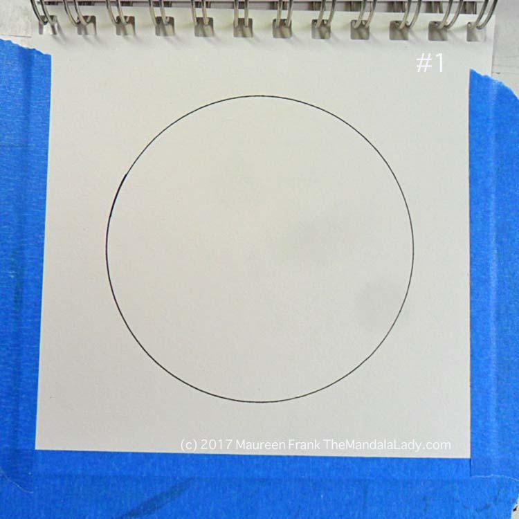 mandala of the day - fat - doodle mandala - self help