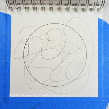 mandala of the day - fat - doodle mandala