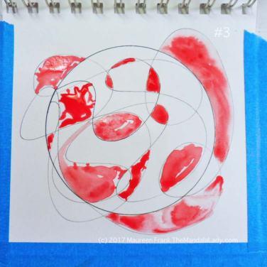 mandala of the day - fat - doodle mandala - red