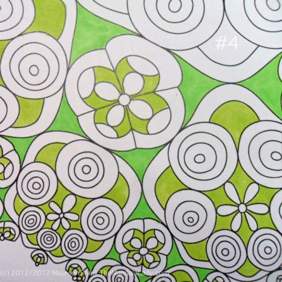 Astrological Sign of Taurus - Mandala to Color - Hyperbolic Tessellation - green