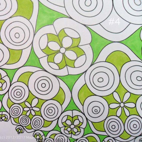 Astrological Sign of Taurus - Mandala to Color - Hyperbolic Tessellation - green