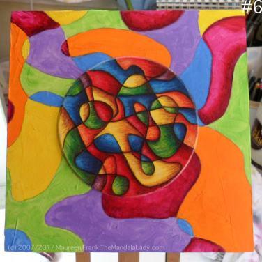 Bohemian Sunset Mandala Mandala of the Week red magenta doodle