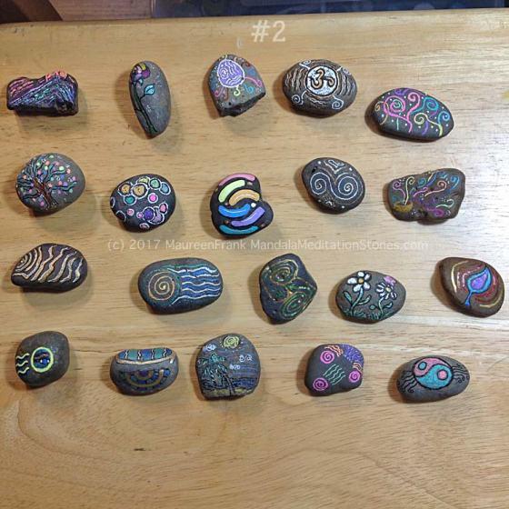 Mindfulness Stones - painted rocks - mandalas - meditation - the mandala lady