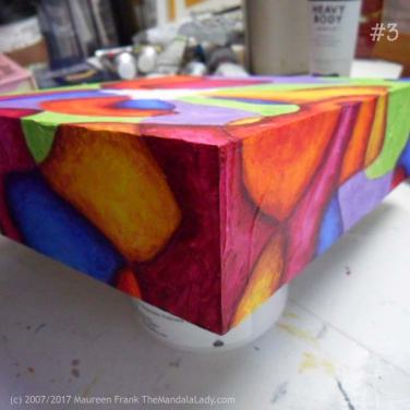 Bohemian Sunset Mandala - abstract art - doodle mandala - yellow - orange - red - blue - green