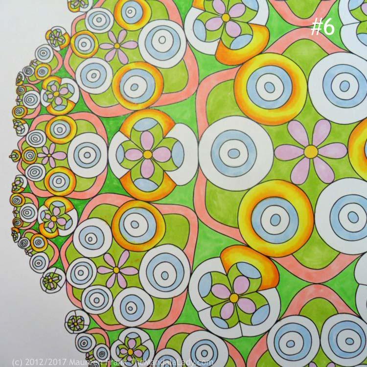 Taurus - Astrology - hyperbolic - tessellation - green - pink - blue - yellow - orange - taurus symbol