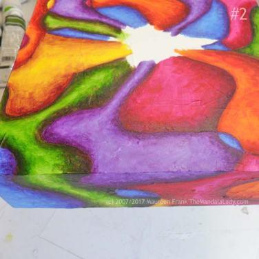Bohemian Sunset Mandala - abstract art - doodle mandala - yellow - orange - red - blue - green - purple