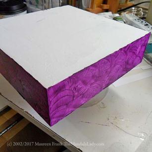 primrose mandala - gessoed wood panel - purple - the mandala lady