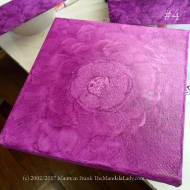white canves - purple - the mandala lady