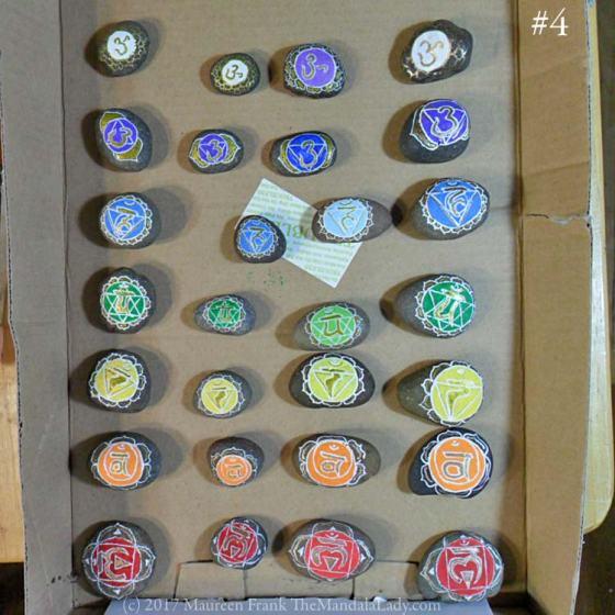 chakra meditation stone sets - the mandala lady - hand painted stones - mandala art