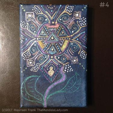 Observe Mandala - indigo - gel pens - patterns - aboriginal - Aztec