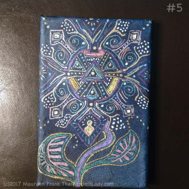 Observe Mandala - indigo - gel pens - patterns - aboriginal - Aztec
