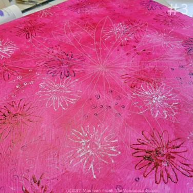 Windmill Mandala - pink - painting - The Mandala Lady - stamping