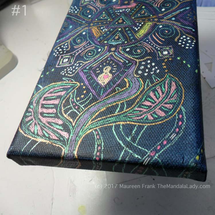 Observe Mandala - indigo - gel pens - patterns - aboriginal - Aztec - gel pens