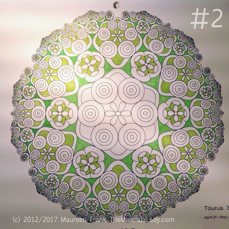 Taurus - Astrology - hyperbolic - tessellation - green - pink