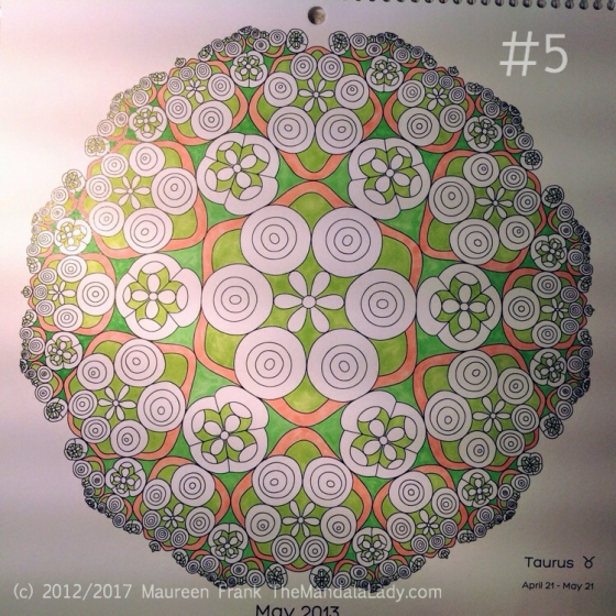 Taurus - Astrology - hyperbolic - tessellation - green - pink