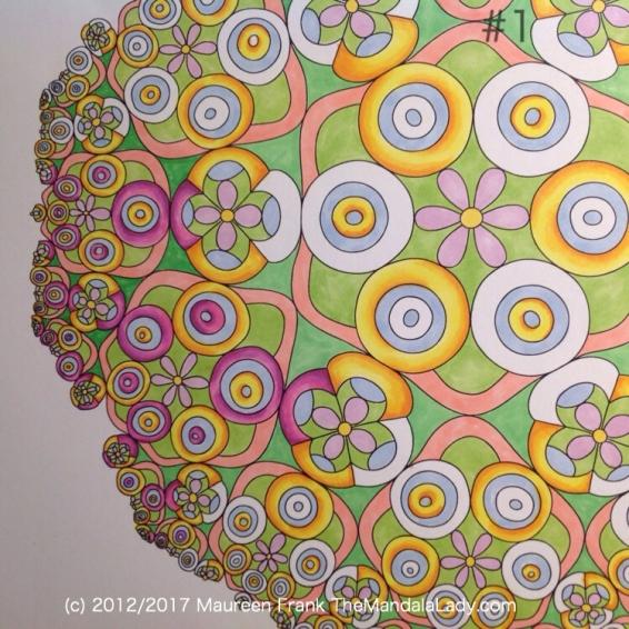 Taurus - Astrology - hyperbolic - tessellation - green - pink - blue - yellow - orange - purple