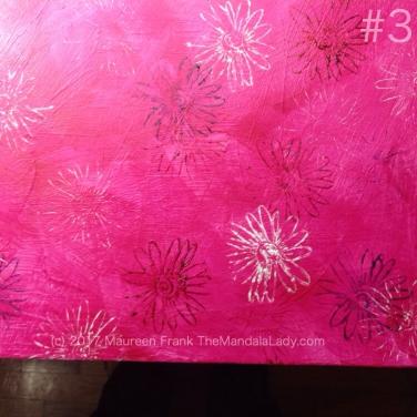 Windmill Mandala - pink - painting - The Mandala Lady