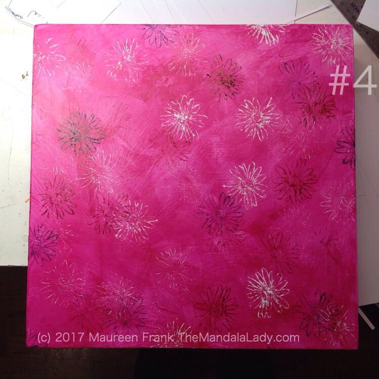 Windmill Mandala - pink - painting - The Mandala Lady