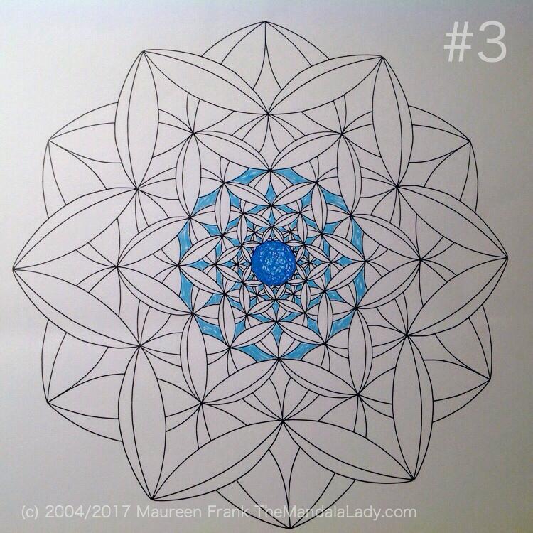 Fly Away With Me Mandala - The Mandala Lady - Wings - Butterflies - blue