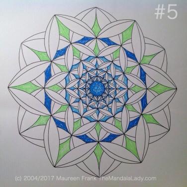 Fly Away With Me Mandala - The Mandala Lady - Wings - Butterflies - blue - green