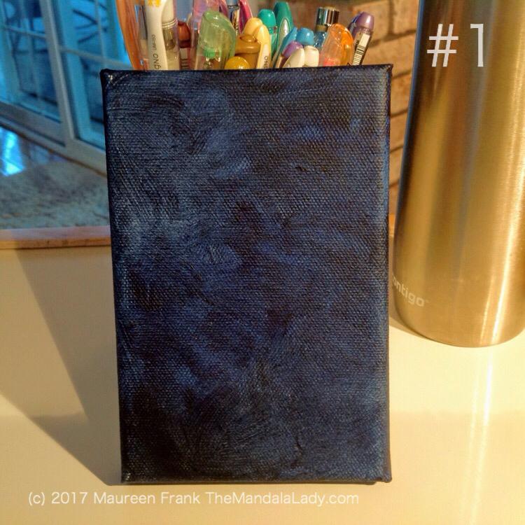 Observe Mandala - The Mandala Lady - indigo blue
