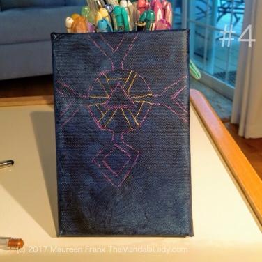 Observe Mandala - The Mandala Lady - indigo blue - purple