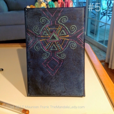 Observe Mandala - The Mandala Lady - indigo blue - purple - bronze - green