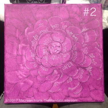 Fuchsia Mandala - floral - flower - white - black outline