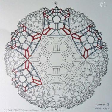 Gemini Mandala - Astrology Sign - The Mandala Lady